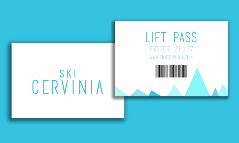lift pass mock up